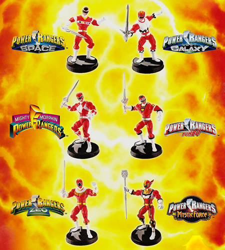 Lost Galaxy, Mighty Morphin, Turbo, Zeo, and Mystic Force Red Power